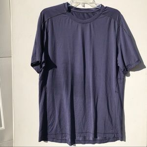 LULULEMON Blue Metal vent tech Shirt xl